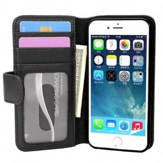 Cadorabo Hülle für Apple iPhone 7 / iPhone 7S / iPhone 8 in OXID SCHWARZ ? Handyhülle mit Magnetverschluss und 3 Kartenfächern ? Case Cover Schutzhülle Etui Tasche Book Klapp Style