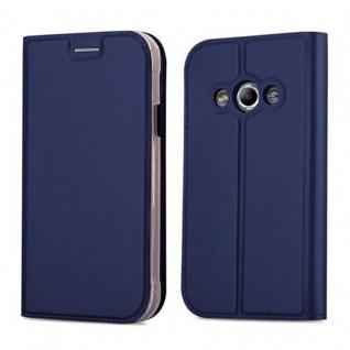 Cadorabo Hülle für Samsung Galaxy XCOVER 3 in CLASSY DUNKEL BLAU - Handyhülle mit Magnetverschluss, Standfunktion und Kartenfach - Case Cover Schutzhülle Etui Tasche Book Klapp Style