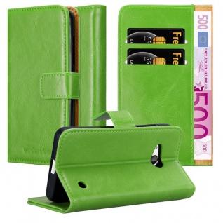 Cadorabo Hülle für Nokia Lumia 550 in GRAS GRÜN ? Handyhülle mit Magnetverschluss, Standfunktion und Kartenfach ? Case Cover Schutzhülle Etui Tasche Book Klapp Style
