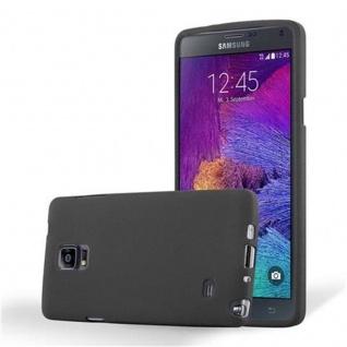 Cadorabo Hülle für Samsung Galaxy NOTE 4 in FROST SCHWARZ Handyhülle aus flexiblem TPU Silikon Silikonhülle Schutzhülle Ultra Slim Soft Back Cover Case Bumper