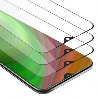 Cadorabo 3x Vollbild Panzer Folie für Samsung Galaxy M10 - Schutzfolie in TRANSPARENT mit SCHWARZ - 3er Pack Gehärtetes (Tempered) Display-Schutzglas in 9H Härte mit 3D Touch