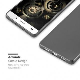 Cadorabo Hülle für Huawei P8 LITE 2015 in METALLIC GRAU - Handyhülle aus flexiblem TPU Silikon - Silikonhülle Schutzhülle Ultra Slim Soft Back Cover Case Bumper - Vorschau 2