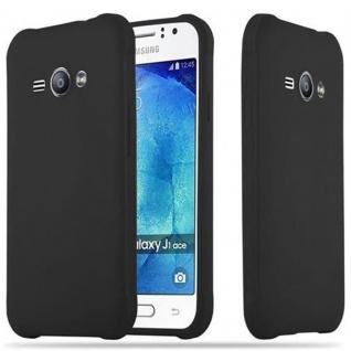 Cadorabo Hülle für Samsung Galaxy J1 ACE in CANDY SCHWARZ - Handyhülle aus flexiblem TPU Silikon - Silikonhülle Schutzhülle Ultra Slim Soft Back Cover Case Bumper