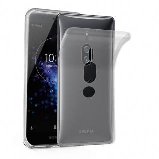 Cadorabo Hülle für Sony Xperia XZ2 Premium in VOLL TRANSPARENT - Handyhülle aus flexiblem TPU Silikon - Silikonhülle Schutzhülle Ultra Slim Soft Back Cover Case Bumper