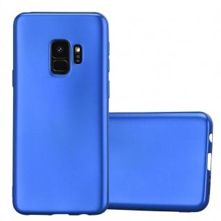 Cadorabo Hülle für Samsung Galaxy S9 in METALLIC BLAU - Handyhülle aus flexiblem TPU Silikon - Silikonhülle Schutzhülle Ultra Slim Soft Back Cover Case Bumper
