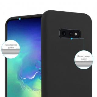 Cadorabo Hülle für Samsung Galaxy S10e in CANDY SCHWARZ - Handyhülle aus flexiblem TPU Silikon - Silikonhülle Schutzhülle Ultra Slim Soft Back Cover Case Bumper - Vorschau 4