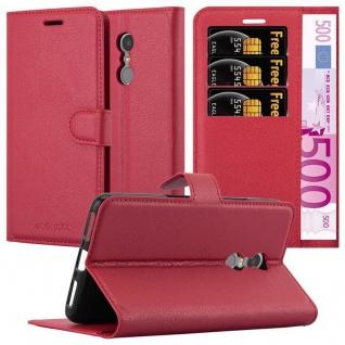 Cadorabo Hülle für Lenovo K6 NOTE in KARMIN ROT - Handyhülle mit Magnetverschluss, Standfunktion und Kartenfach - Case Cover Schutzhülle Etui Tasche Book Klapp Style