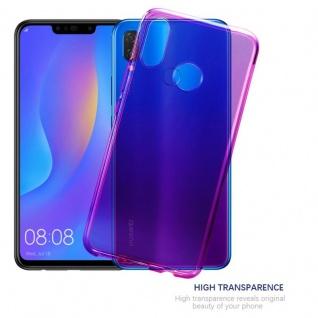 Cadorabo Hülle für Huawei P SMART PLUS in TRANSPARENT PINK - Handyhülle aus flexiblem TPU Silikon - Silikonhülle Schutzhülle Ultra Slim Soft Back Cover Case Bumper - Vorschau 5