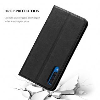 Cadorabo Hülle für Samsung Galaxy A50 in NACHT SCHWARZ - Handyhülle mit Magnetverschluss, Standfunktion und Kartenfach - Case Cover Schutzhülle Etui Tasche Book Klapp Style - Vorschau 5