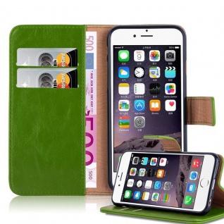 Cadorabo Hülle für Apple iPhone 6 PLUS / iPhone 6S PLUS in GRAS GRÜN ? Handyhülle mit Magnetverschluss, Standfunktion und Kartenfach ? Case Cover Schutzhülle Etui Tasche Book Klapp Style