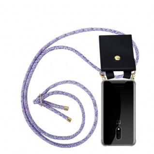 Cadorabo Handy Kette für OnePlus 7 in UNICORN Silikon Necklace Umhänge Hülle mit Gold Ringen, Kordel Band Schnur und abnehmbarem Etui Schutzhülle