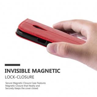 Cadorabo Hülle für Motorola MOTO G2 in APFEL ROT Handyhülle mit Magnetverschluss, Standfunktion und Kartenfach Case Cover Schutzhülle Etui Tasche Book Klapp Style - Vorschau 4
