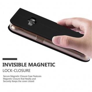 Cadorabo Hülle für Samsung Galaxy J1 2016 in CLASSY SCHWARZ - Handyhülle mit Magnetverschluss, Standfunktion und Kartenfach - Case Cover Schutzhülle Etui Tasche Book Klapp Style - Vorschau 5