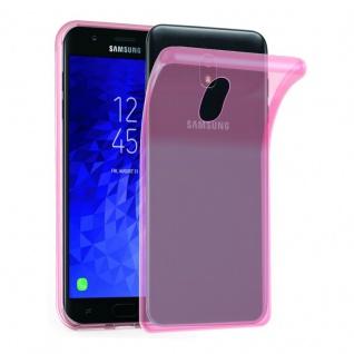 Cadorabo Hülle für Samsung Galaxy J3 2018 in TRANSPARENT PINK - Handyhülle aus flexiblem TPU Silikon - Silikonhülle Schutzhülle Ultra Slim Soft Back Cover Case Bumper