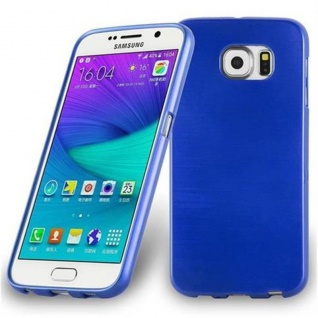 Cadorabo Hülle für Samsung Galaxy S6 EDGE PLUS in BLAU - Handyhülle aus flexiblem TPU Silikon - Silikonhülle Schutzhülle Ultra Slim Soft Back Cover Case Bumper