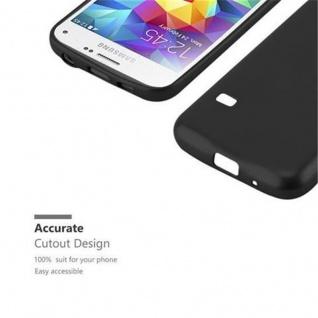 Cadorabo Hülle für Samsung Galaxy S5 MINI / S5 MINI DUOS in METALLIC SCHWARZ - Handyhülle aus flexiblem TPU Silikon - Silikonhülle Schutzhülle Ultra Slim Soft Back Cover Case Bumper - Vorschau 2