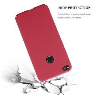 Cadorabo Hülle für Huawei P8 LITE 2017 in FROSTY ROT - Hardcase Handyhülle aus Plastik gegen Kratzer und Stöße - Schutzhülle Bumper Ultra Slim Back Case Hard Cover - Vorschau 3