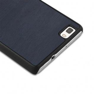 Cadorabo Hülle für Huawei P8 LITE 2015 in WOODY BLAU ? Hardcase Handyhülle aus Plastik gegen Kratzer und Stöße ? Schutzhülle Bumper Ultra Slim Back Case Hard Cover - Vorschau 3