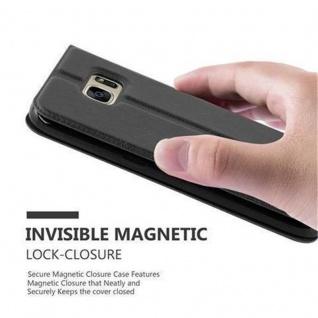 Cadorabo Hülle für Samsung Galaxy S7 in KOMETEN SCHWARZ ? Handyhülle mit Magnetverschluss, Standfunktion und 2 Sichtfenstern ? Case Cover Schutzhülle Etui Tasche Book Klapp Style - Vorschau 4