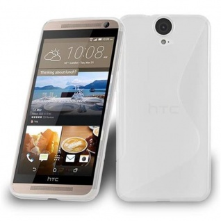 Cadorabo Hülle für HTC ONE E9 PLUS - Hülle in HALB TRANSPARENT ? Handyhülle aus flexiblem TPU Silikon im S-Line Design - Ultra Slim Soft Backcover Case Bumper