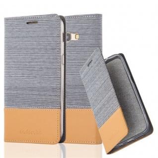 Cadorabo Hülle für Samsung Galaxy A3 2017 in HELL GRAU BRAUN - Handyhülle mit Magnetverschluss, Standfunktion und Kartenfach - Case Cover Schutzhülle Etui Tasche Book Klapp Style