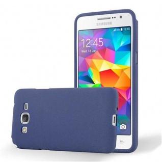 Cadorabo Hülle für Samsung Galaxy GRAND PRIME in FROST DUNKEL BLAU - Handyhülle aus flexiblem TPU Silikon - Silikonhülle Schutzhülle Ultra Slim Soft Back Cover Case Bumper