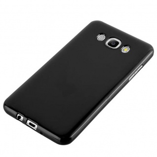 Cadorabo Hülle für Samsung Galaxy J7 2015 in JELLY SCHWARZ - Handyhülle aus flexiblem TPU Silikon - Silikonhülle Schutzhülle Ultra Slim Soft Back Cover Case Bumper - Vorschau 3