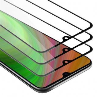 Cadorabo 3x Vollbild Panzer Folie für Xiaomi Mi 9 - Schutzfolie in TRANSPARENT mit SCHWARZ - 3er Pack Gehärtetes (Tempered) Display-Schutzglas in 9H Härte mit 3D Touch