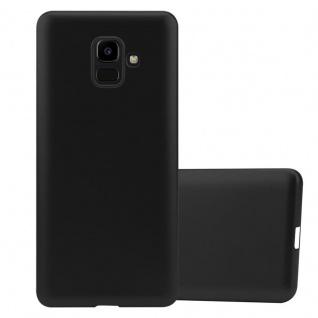 Cadorabo Hülle für Samsung Galaxy J6 2016 in METALLIC SCHWARZ - Handyhülle aus flexiblem TPU Silikon - Silikonhülle Schutzhülle Ultra Slim Soft Back Cover Case Bumper