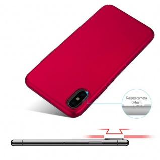 Cadorabo Hülle für Apple iPhone X / XS in METALL ROT ? Hardcase Handyhülle aus Plastik gegen Kratzer und Stöße ? Schutzhülle Bumper Ultra Slim Back Case Hard Cover - Vorschau 4