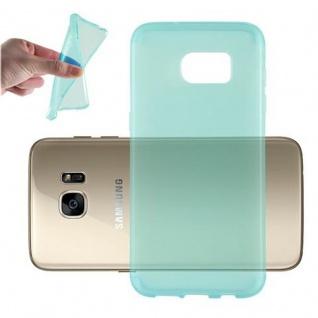 Cadorabo Hülle für Samsung Galaxy S7 EDGE in TRANSPARENT BLAU - Handyhülle aus flexiblem TPU Silikon - Silikonhülle Schutzhülle Ultra Slim Soft Back Cover Case Bumper