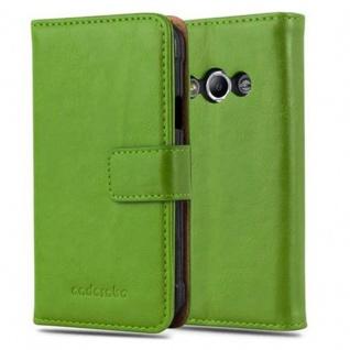 Cadorabo Hülle für Samsung Galaxy Xcover 3 in GRAS GRÜN ? Handyhülle mit Magnetverschluss, Standfunktion und Kartenfach ? Case Cover Schutzhülle Etui Tasche Book Klapp Style