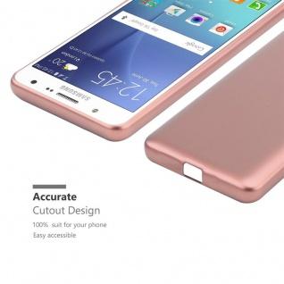 Cadorabo Hülle für Samsung Galaxy J7 2015 in METALLIC ROSÉ GOLD - Handyhülle aus flexiblem TPU Silikon - Silikonhülle Schutzhülle Ultra Slim Soft Back Cover Case Bumper - Vorschau 5
