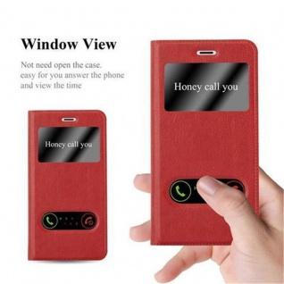 Cadorabo Hülle für Nokia 3 2017 in SAFRAN ROT - Handyhülle mit Magnetverschluss, Standfunktion und 2 Sichtfenstern - Case Cover Schutzhülle Etui Tasche Book Klapp Style - Vorschau 2