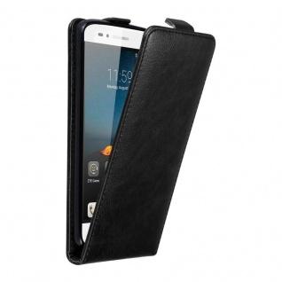 Cadorabo Hülle für ZTE BLADE A612 in NACHT SCHWARZ Handyhülle im Flip Design mit unsichtbarem Magnetverschluss Case Cover Schutzhülle Etui Tasche Book Klapp Style