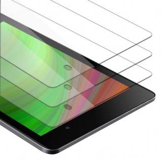 Cadorabo 3x Panzer Folie für Asus Google Nexus 7 FHD 2. Gen. - Schutzfolie in KRISTALL KLAR - 3er Pack Gehärtetes (Tempered) Display-Schutzglas in 9H Härte mit 3D Touch Kompatibilität