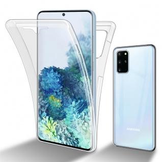 Cadorabo Hülle kompatibel mit Samsung Galaxy S20 Plus in TRANSPARENT - 360° Full Body Handyhülle Front und Rückenschutz Rundumschutz Schutzhülle mit Displayschutz