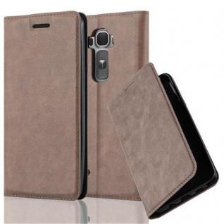 Cadorabo Hülle für LG FLEX 2 in KAFFEE BRAUN Handyhülle mit Magnetverschluss, Standfunktion und Kartenfach Case Cover Schutzhülle Etui Tasche Book Klapp Style