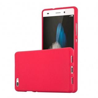 Cadorabo Hülle für Huawei P8 LITE 2015 in FROST ROT - Handyhülle aus flexiblem TPU Silikon - Silikonhülle Schutzhülle Ultra Slim Soft Back Cover Case Bumper