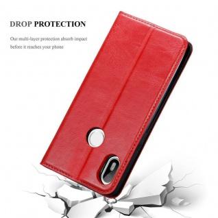 Cadorabo Hülle für BQ Aquaris C in APFEL ROT Handyhülle mit Magnetverschluss, Standfunktion und Kartenfach Case Cover Schutzhülle Etui Tasche Book Klapp Style - Vorschau 5