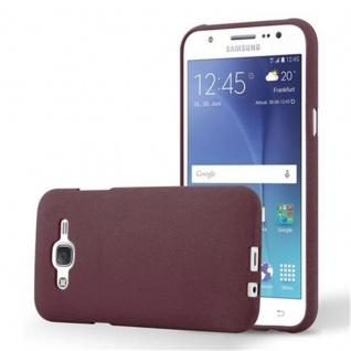 Cadorabo Hülle für Samsung Galaxy J5 2015 in FROST BORDEAUX LILA - Handyhülle aus flexiblem TPU Silikon - Silikonhülle Schutzhülle Ultra Slim Soft Back Cover Case Bumper