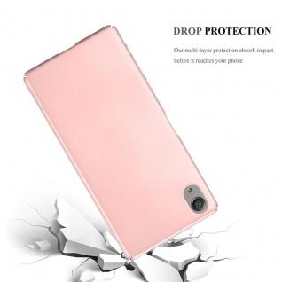 Cadorabo Hülle für Sony Xperia X in METALL ROSÉ GOLD - Hardcase Handyhülle aus Plastik gegen Kratzer und Stöße - Schutzhülle Bumper Ultra Slim Back Case Hard Cover - Vorschau 3