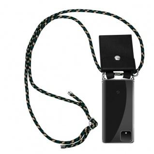 Cadorabo Handy Kette für Google Pixel 4 in CAMOUFLAGE - Silikon Necklace Umhänge Hülle mit Silber Ringen, Kordel Band Schnur und abnehmbarem Etui - Schutzhülle