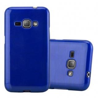 Cadorabo Hülle für Samsung Galaxy J1 2016 in BLAU - Handyhülle aus flexiblem TPU Silikon - Silikonhülle Schutzhülle Ultra Slim Soft Back Cover Case Bumper