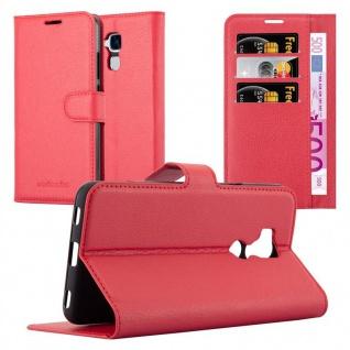 Cadorabo Hülle für Honor 5C in KARMIN ROT - Handyhülle mit Magnetverschluss, Standfunktion und Kartenfach - Case Cover Schutzhülle Etui Tasche Book Klapp Style