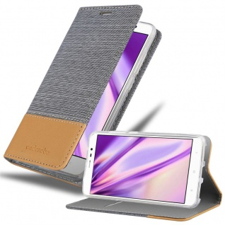 Cadorabo Hülle für Xiaomi RedMi Note 4 in HELL GRAU BRAUN - Handyhülle mit Magnetverschluss, Standfunktion und Kartenfach - Case Cover Schutzhülle Etui Tasche Book Klapp Style