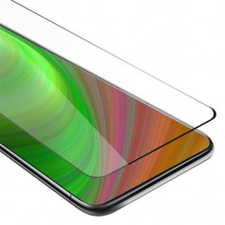 Cadorabo Vollbild Panzer Folie für Samsung Galaxy A80 / A90 - Schutzfolie in TRANSPARENT mit SCHWARZ - Gehärtetes (Tempered) Display-Schutzglas in 9H Härte mit 3D Touch Kompatibilität