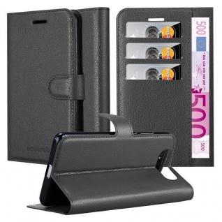 Cadorabo Hülle für Samsung Galaxy A80 / A90 in PHANTOM SCHWARZ - Handyhülle mit Magnetverschluss, Standfunktion und Kartenfach - Case Cover Schutzhülle Etui Tasche Book Klapp Style