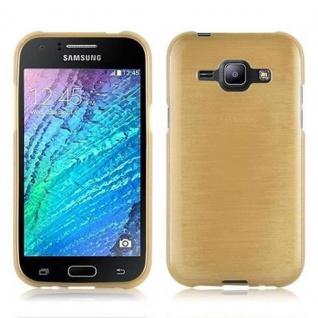 Cadorabo Hülle für Samsung Galaxy J1 2015 in GOLD - Handyhülle aus flexiblem TPU Silikon - Silikonhülle Schutzhülle Ultra Slim Soft Back Cover Case Bumper - Vorschau 2