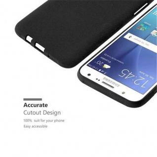 Cadorabo Hülle für Samsung Galaxy J7 2015 in FROST SCHWARZ - Handyhülle aus flexiblem TPU Silikon - Silikonhülle Schutzhülle Ultra Slim Soft Back Cover Case Bumper - Vorschau 3